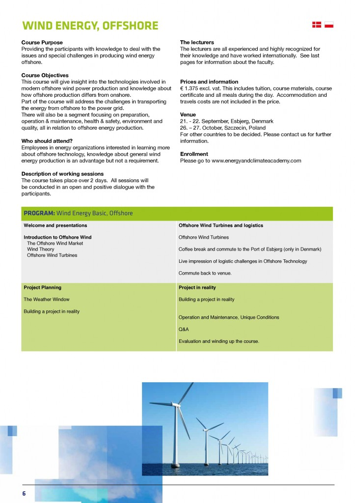Wind Energy Courses